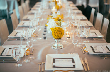 Grey & Yellow Chevron Wedding