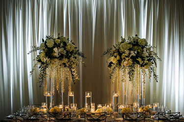 Draped Ballroom Wedding