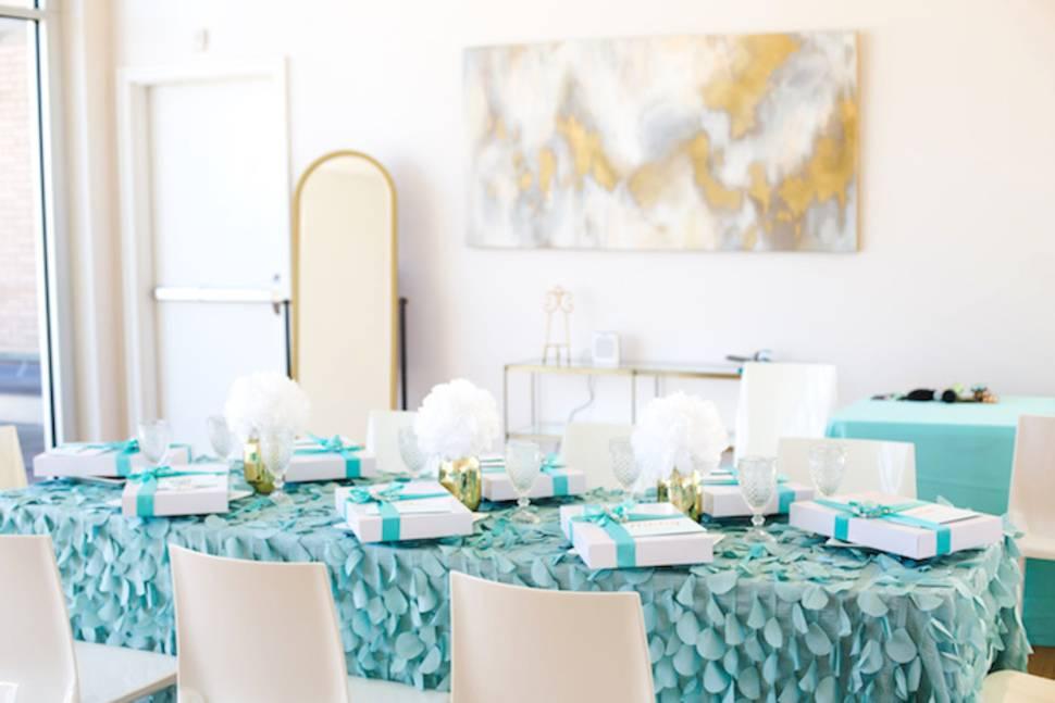 Elegant Tiffanys Inspired Birthday Party