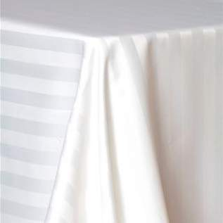 Poly White Satin Stripe