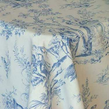 "Toile Blue 85"" Square"