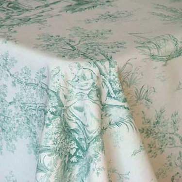 "Toile Green 85"" Square"