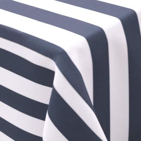 Awning Stripe Navy Blue & White