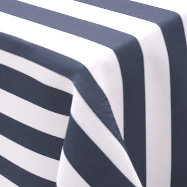 Awning Stripe Navy Blue & White