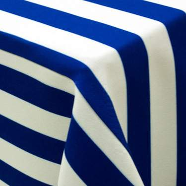 Blue & White Awning Stripe