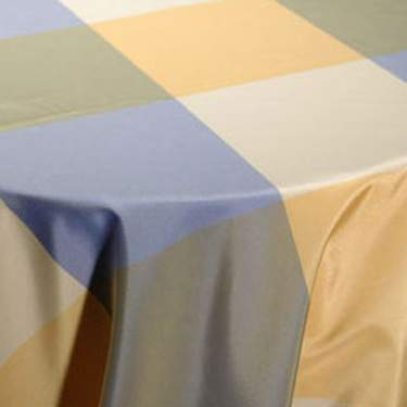 "Taffeta Plaid Blueberry 120"" Round"