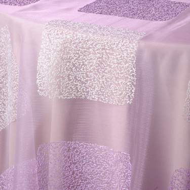 "Crystal Window Ivory/ Lilac 84"" Square"