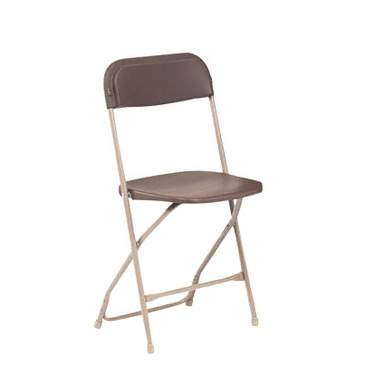 Brown Samsonite Folding Chair