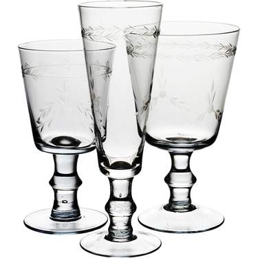 Etched Glassware Pattern