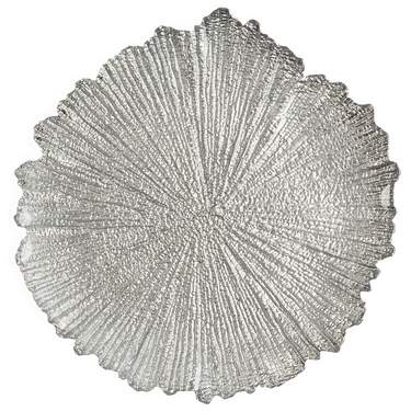 Silver Burst Glass Charger