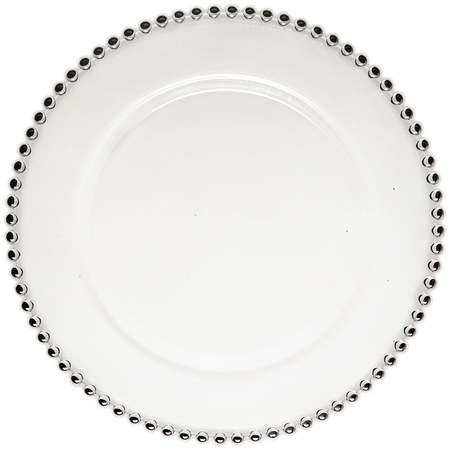 Belmont Silver Glass Charger