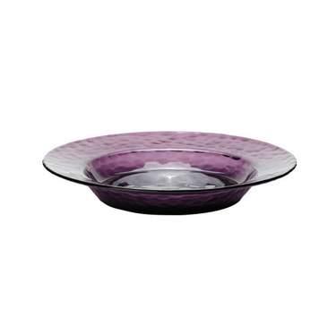 """Amethyst Glass Soup Bowl 8.25"""""""