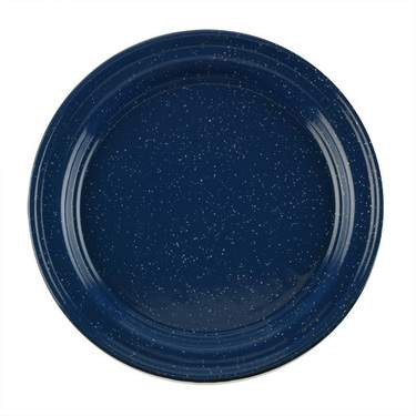 """Blue Enamelware Plate 10"""""""