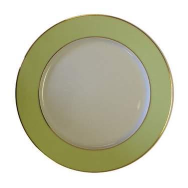 Celery Gold Rim Plate