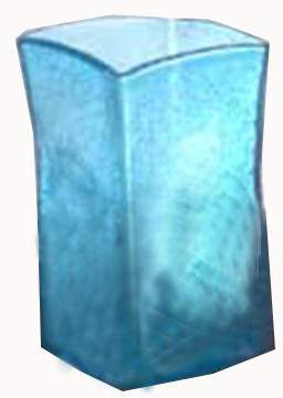 Aqua Fizz Glass Vase