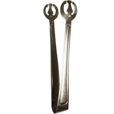 Round Stainless Serving Tongs 12""