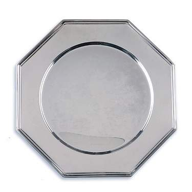 Silver Octagonal Charger