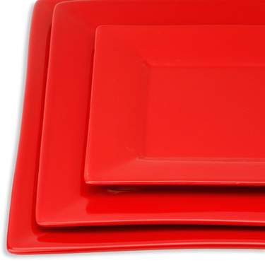 Red Square Dinner Plate Rentals | China Rentals