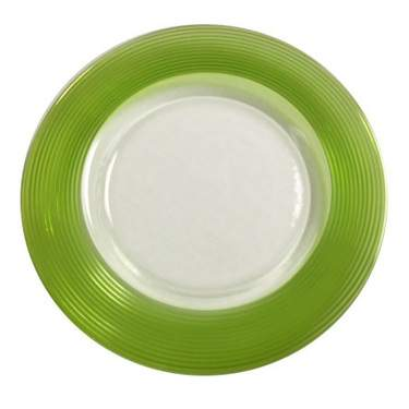 Lime Saturn Glass Charger