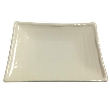 """White Bamboo Porcelain Platter 6"""""""