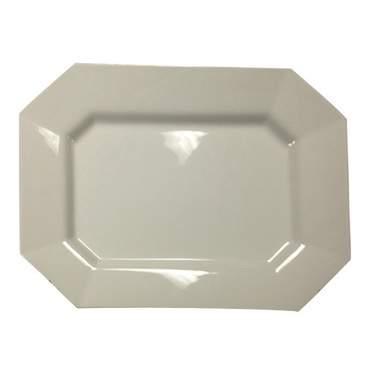 """Octagon White Porcelain Platter 18"""""""