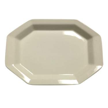 """White Octagon Porcelain Platter 13"""""""