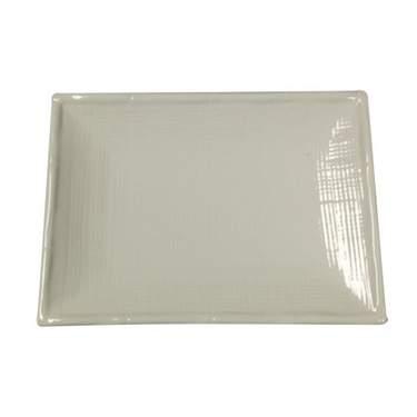 """Bamboo White Porcelain Platter 11"""""""