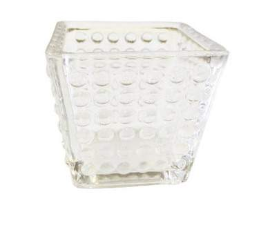Clear Dot Votive Glass
