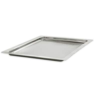 Silver Hammered Square Tray 22""