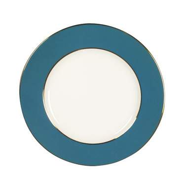 Turquoise Gold Banded Plate