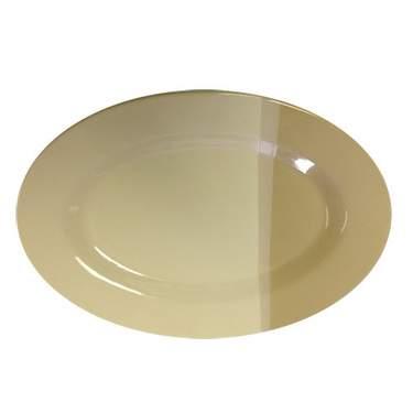"""White Oval Porcelain Platter 14.5"""""""