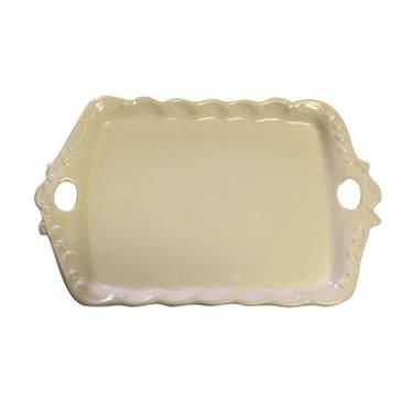 "Porcelain Platter W/2-Handles 14"""