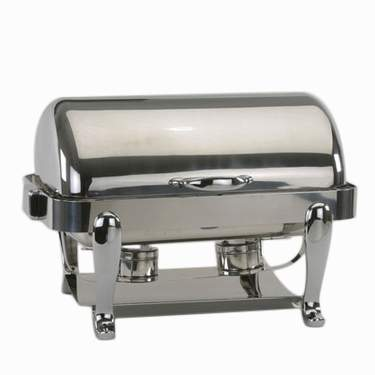 Stainless Steel Rolltop Rectangular Chafer 8qt