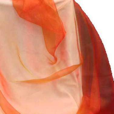 Organza Radiance Flame Tie/Sash