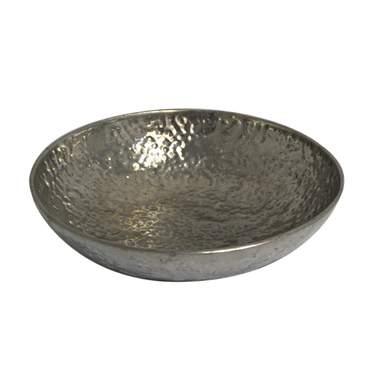 "Round Hammered Aluminum Bowl 19"""