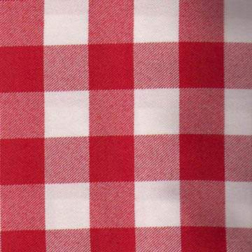 Poly Red & White Checkered