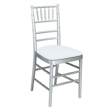 Silver Chiavari Non-Stacking Chair