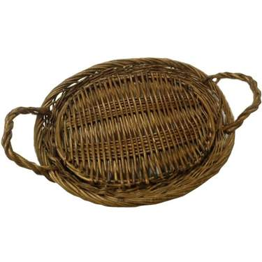 Oval Natural Wicker Basket