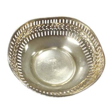 Square Silver Bread Basket