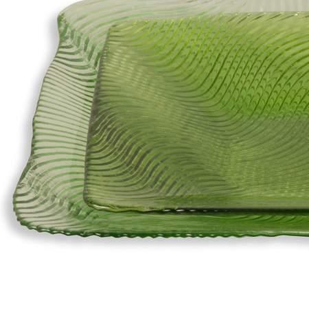 Wavy Green Glass Pattern