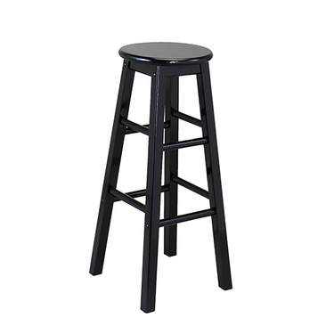 Black Wood Barstool