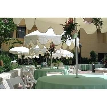 "Umbrella Wood Table 48"""