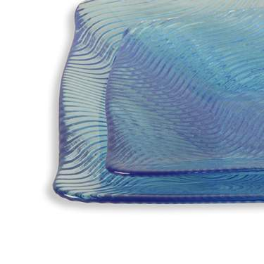 Wavy Blue Glass Pattern