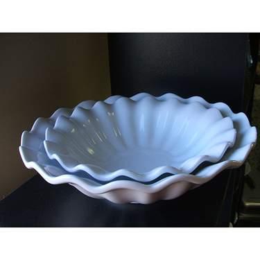 "Round Fluted Porcelain Bowl 10.5"""