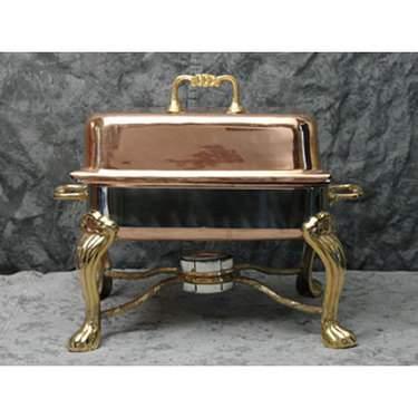 Rectangular Copper Chafer 4qt