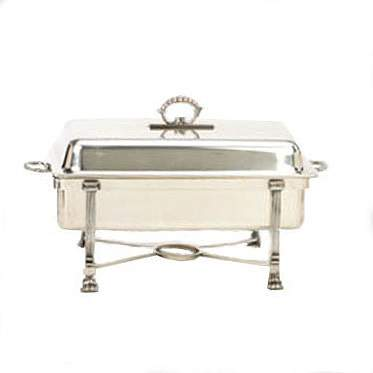 Rectangular Silver Chafer 8qt