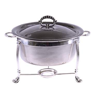 Round Silver Chafer 2qt