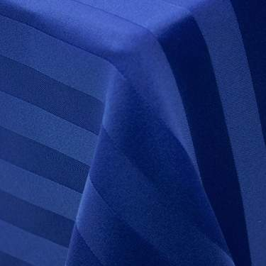 Poly Satin Stripe Royal Blue