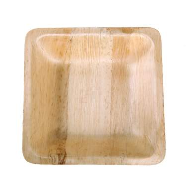 Bamboo Square Plate 10""