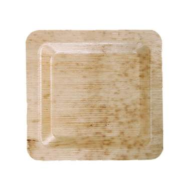"""Bamboo Square Plate 10"""" (8 Pack)"""